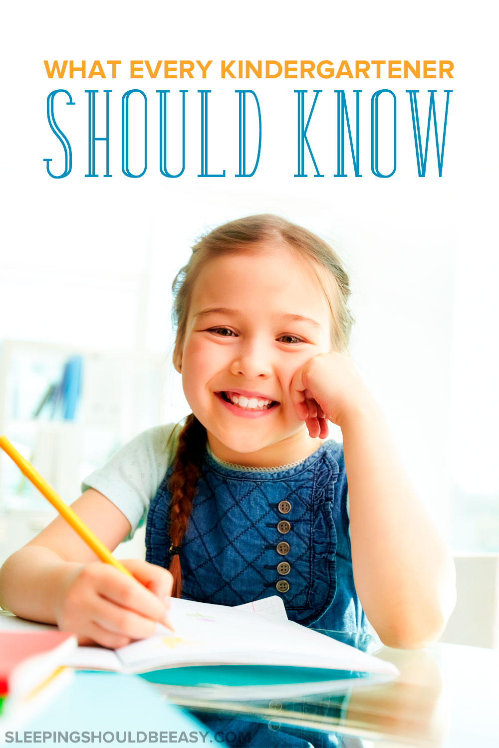 Want to make sure your child is on track with kindergarten and has learned what she needs to? Here's what a kindergartner should know by the end of the year. Check these 12 milestones and skills to see what every kindergartener should know before they go to first grade!