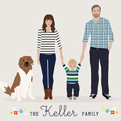 Father's Day gift idea: Personalized family portrait