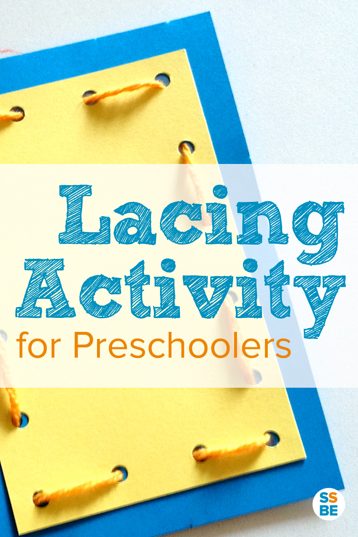 Fun Lacing Activity for Preschoolers Kit