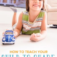 Little boy sharing his blue car: How to teach a child to share