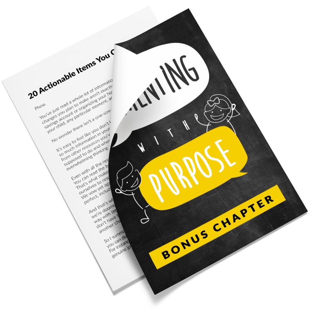 Bonus chapter of Parenting with Purpose