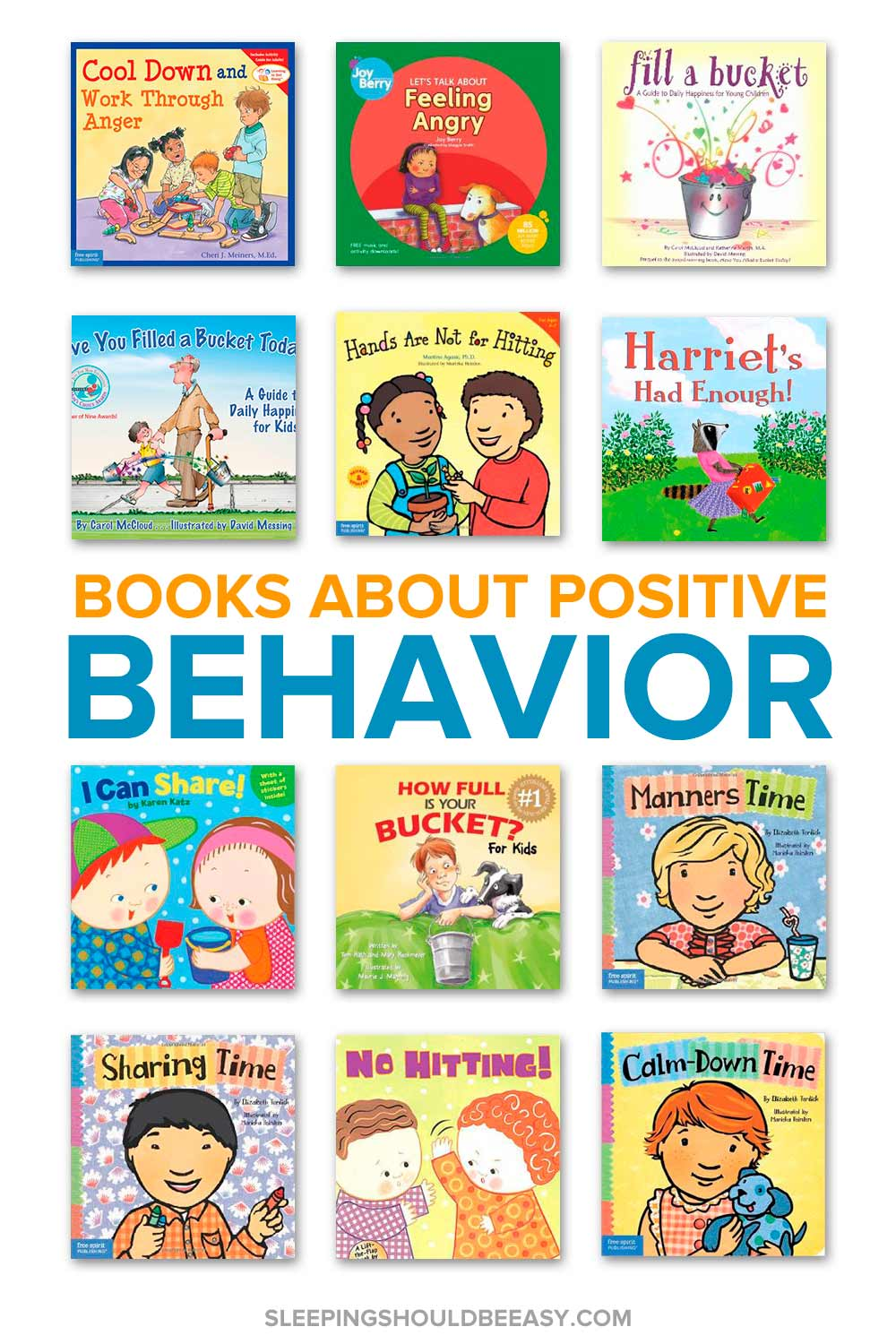 A collection of children's books that reinforce positive behavior