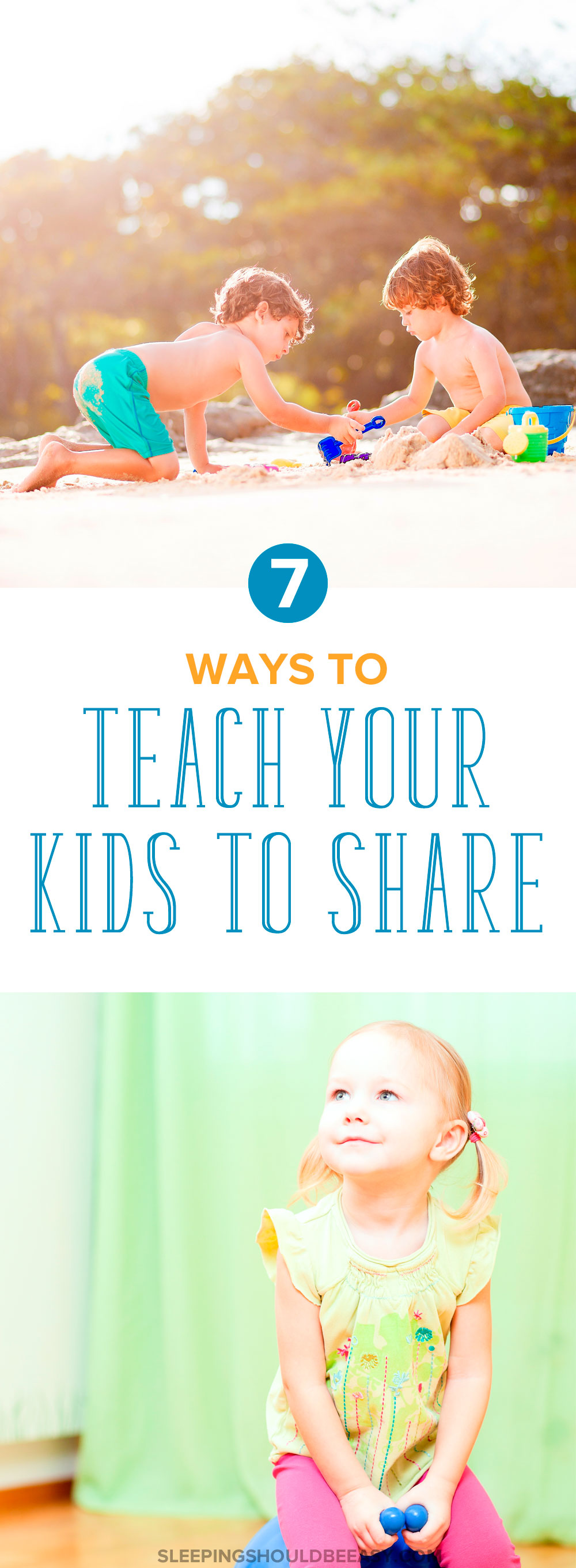 Different ways to teach your children to share. Not sharing with other kids and family members is common with kids, but you can still encourage and teach your kids to share with these 7 practical tips.