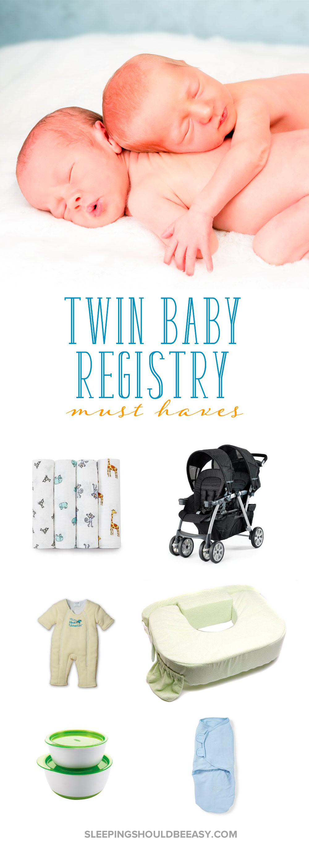 Are you expecting twins and want to know everything you need to prepare for the babies? Check out this comprehensive list of twin registry must-haves!