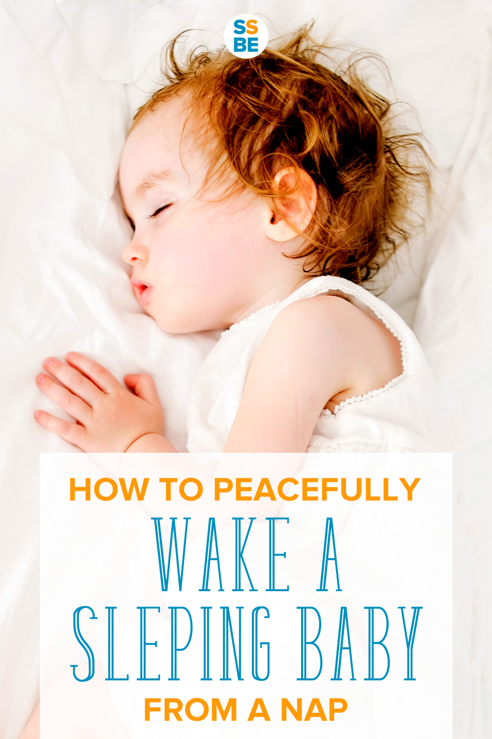 If you've ever had to wake a sleeping baby or toddler from a nap, this post is for you. Here's how to wake a sleeping baby or toddler peacefully.