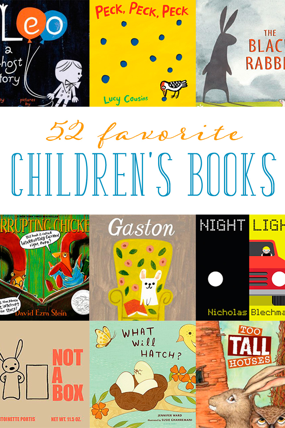 Reading aloud to our children encourages their interest in books. Here are 52 children's books to read throughout the year.