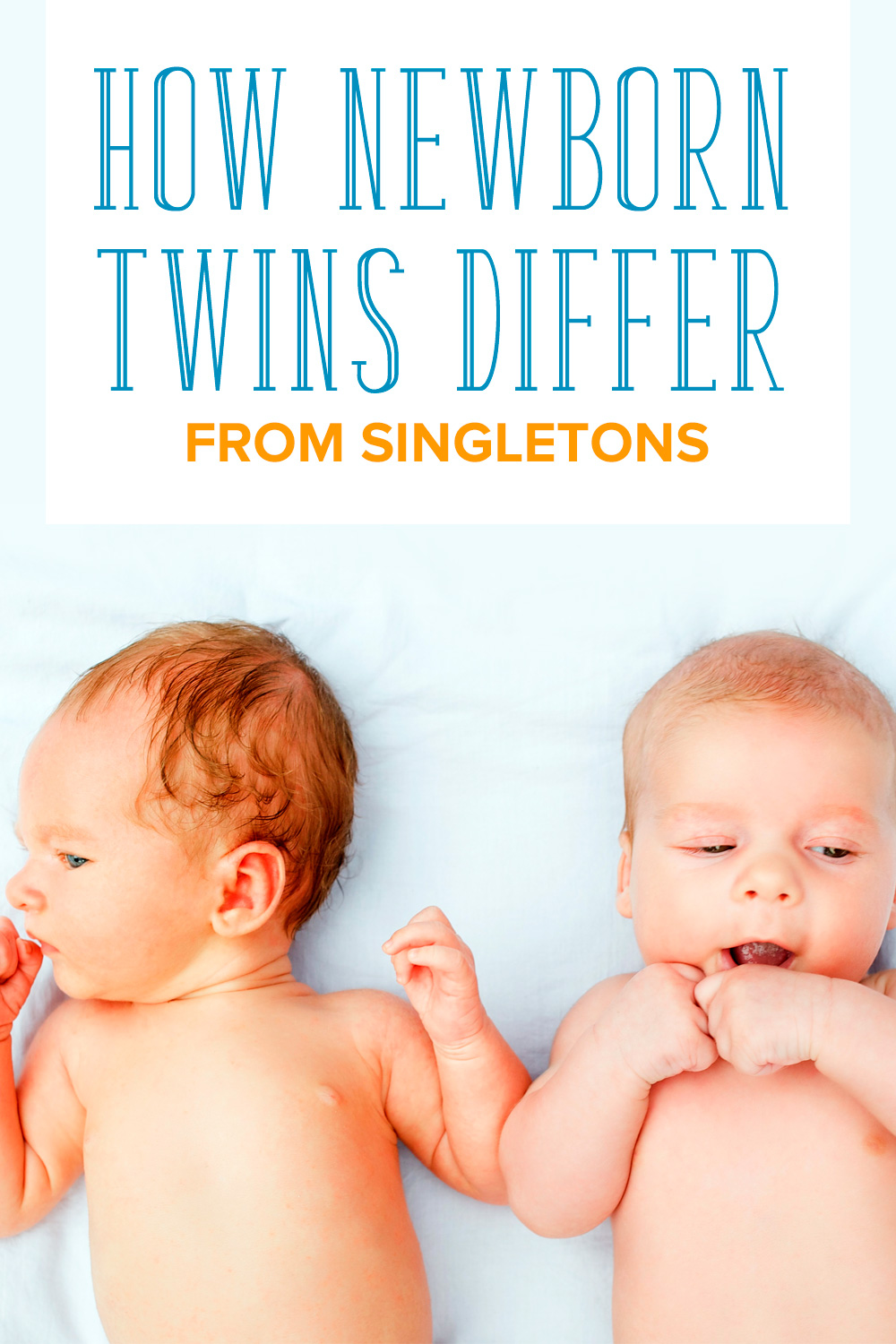 Wondering how to manage dealing with newborn twins? Caring for twins is different from caring for singletons. Here are the differences between newborn twins and newborn singletons. Get the tips and advice you need for surviving twin babies! Even includes a FREE email course, Bringing Home Twins, to help you feel better prepared to welcome your twins home! #twins #TwinLife
