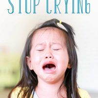 Why You Shouldn't Tell Your Child to Stop Crying