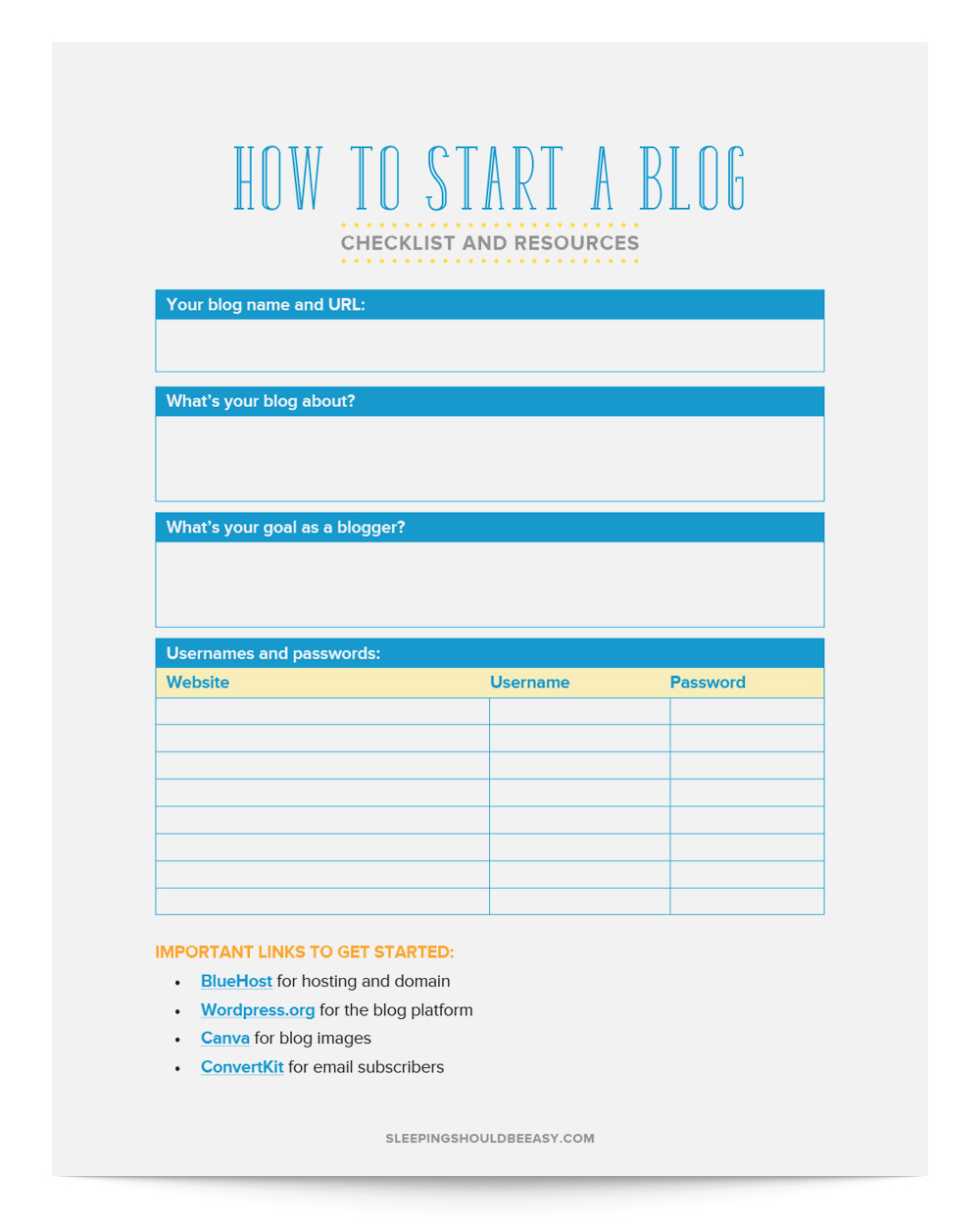 Learn how to start a blog! Anyone can start blogging, and with the right resources and steps, you'll know just what to do to get started.