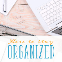 Do you wake up with a million things on your to-do list? Forget to bring things with you? Learn how to stay organized at home with these practical tips.