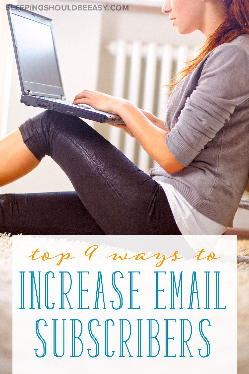 Building and growing an email list is important for any blog. Here are the top 9 ways I increase email subscribers.