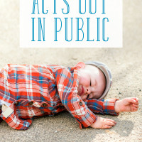 What to Do when Your Child Acts Out in Public