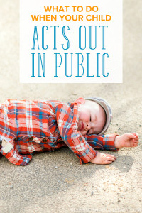 From family parties to zoos and restaurants, what do you do when your child acts out in public? Learn how to best handle a tantrum or meltdown in public.
