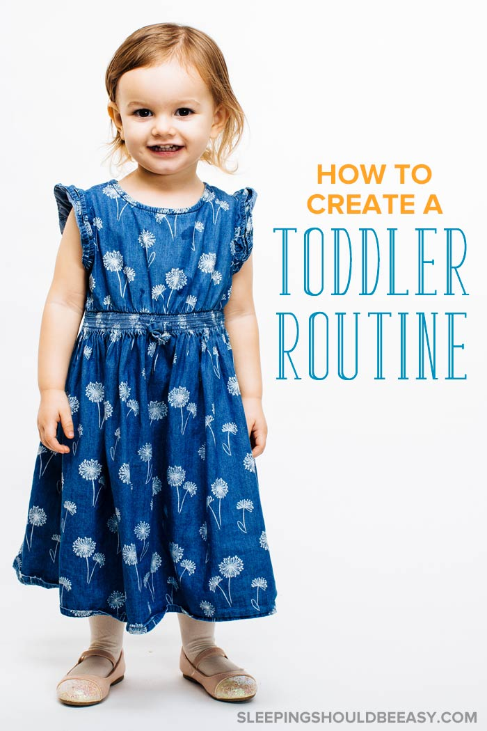 How to create toddler routines: Cute little toddler girl