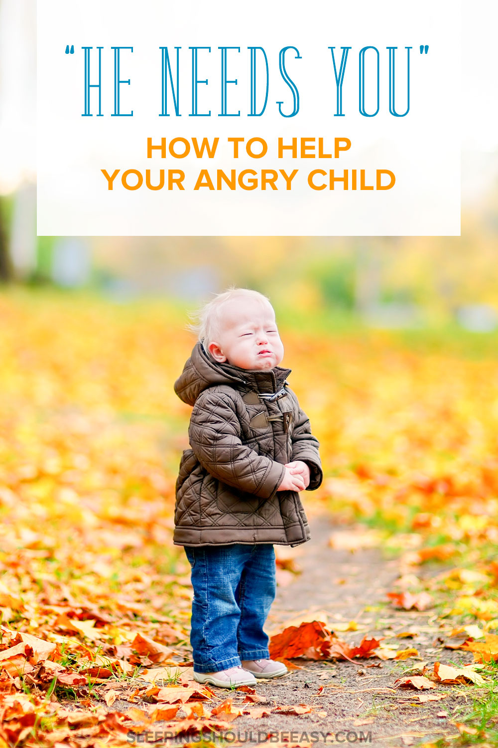 Dealing with meltdowns can be difficult, but it's during these times your angry child NEEDS you. Here are strategies to help you handle it.
