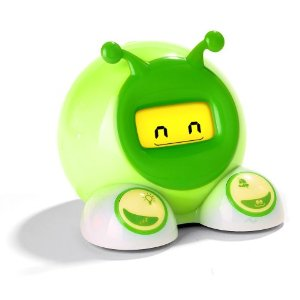 Green alarm clock that lights up