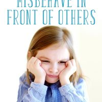 Mad little girl: What to do when your child misbehaves in front of others