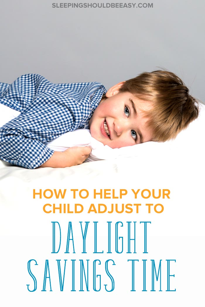 Daylight savings with kids: Little boy hugging his pillow