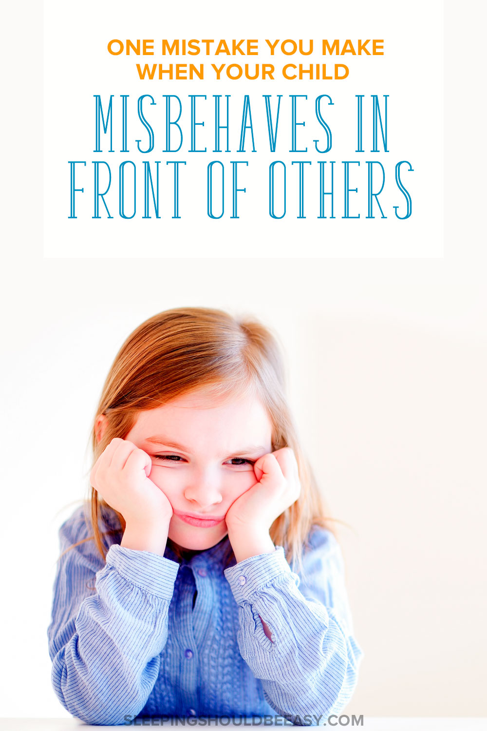 Do you know what to do when your child misbehaves in front of others? You may be making a mistake you don't even know you're making. See if you're guilty of it and what you can do instead.