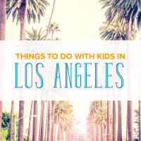 Things to do with kids in Los Angeles: A street lined with palm trees