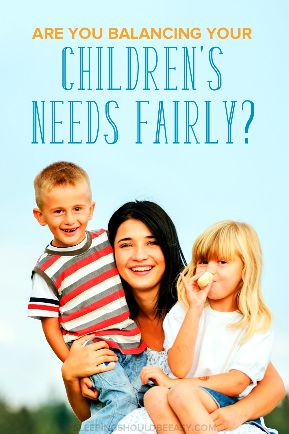 It's easy to feel like you're not treating children fairly when you have more than one child. Or you feel pulled in different directions without being able to spend quality time with each of them. Learn how to balance your children's needs fairly with these tips.