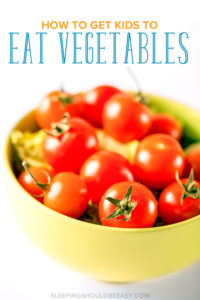 Learn how to get kids to eat vegetables with these practical tips. A must for any mom who wants to make sure her kids eat vegetables. Try these tips to encourage your child to try and even enjoy veggies.