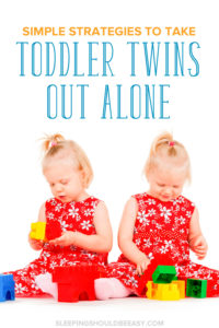 Your twins are now toddlers and running around everywhere! Taking them out all by yourself seems scary. Check out these simple strategies to take toddler twins out alone and survive!
