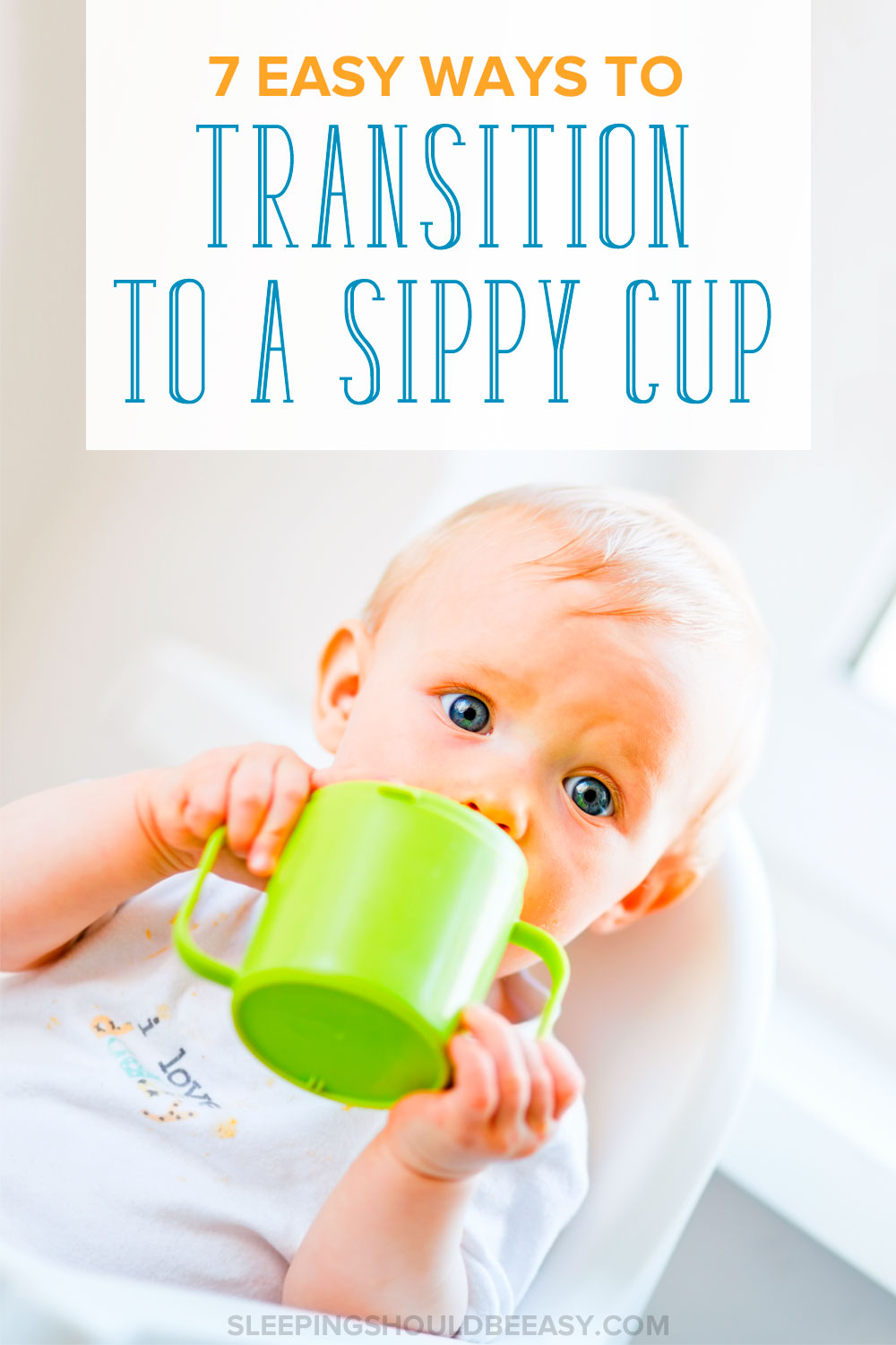 Looking for ways to transition from bottle to sippy cup? These 7 easy ways will help your child drink from a sippy cup and the best time to start.