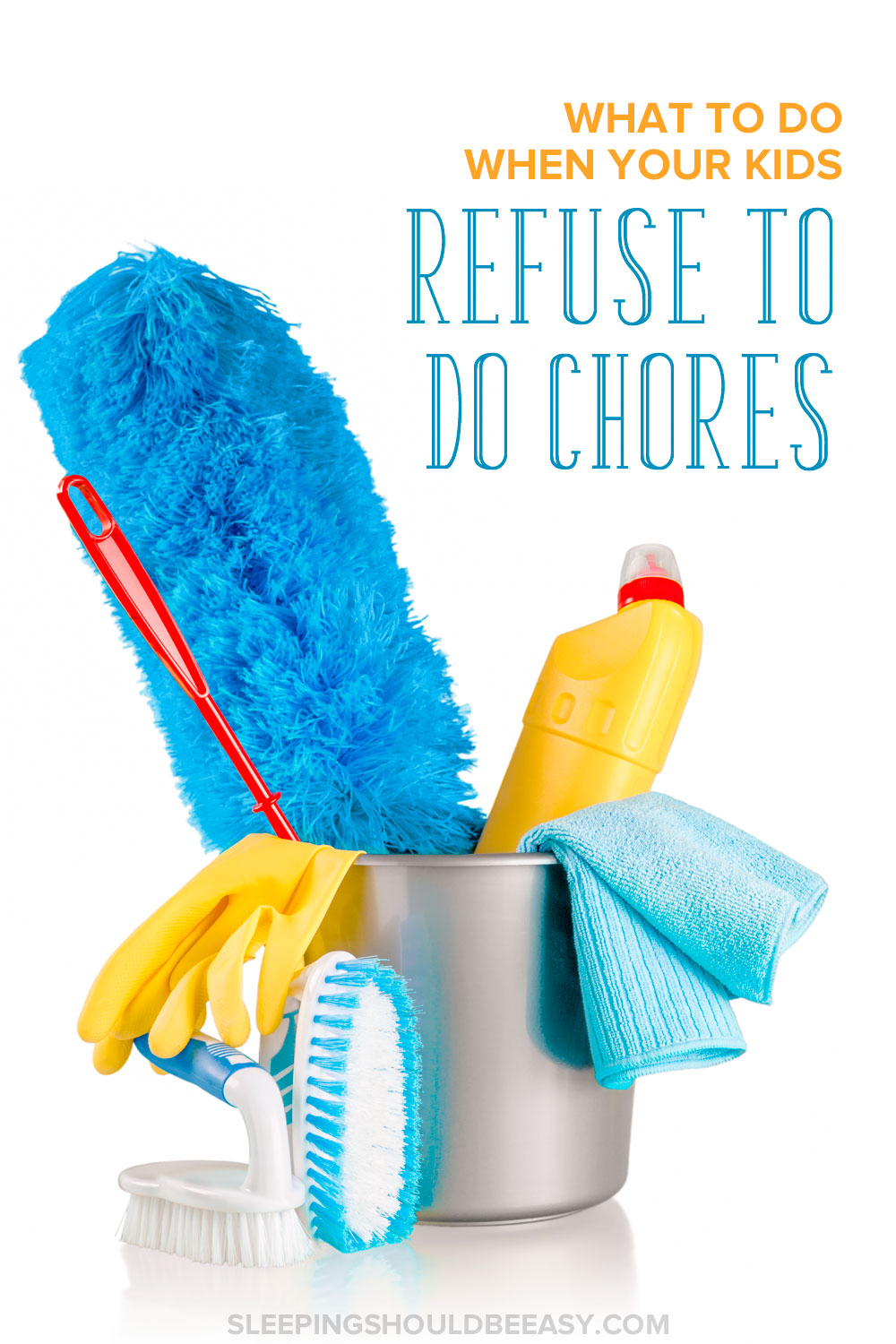 Struggling with getting your children to do chores without nagging or complaining? Learn what to do when your kids refuse to do chores.