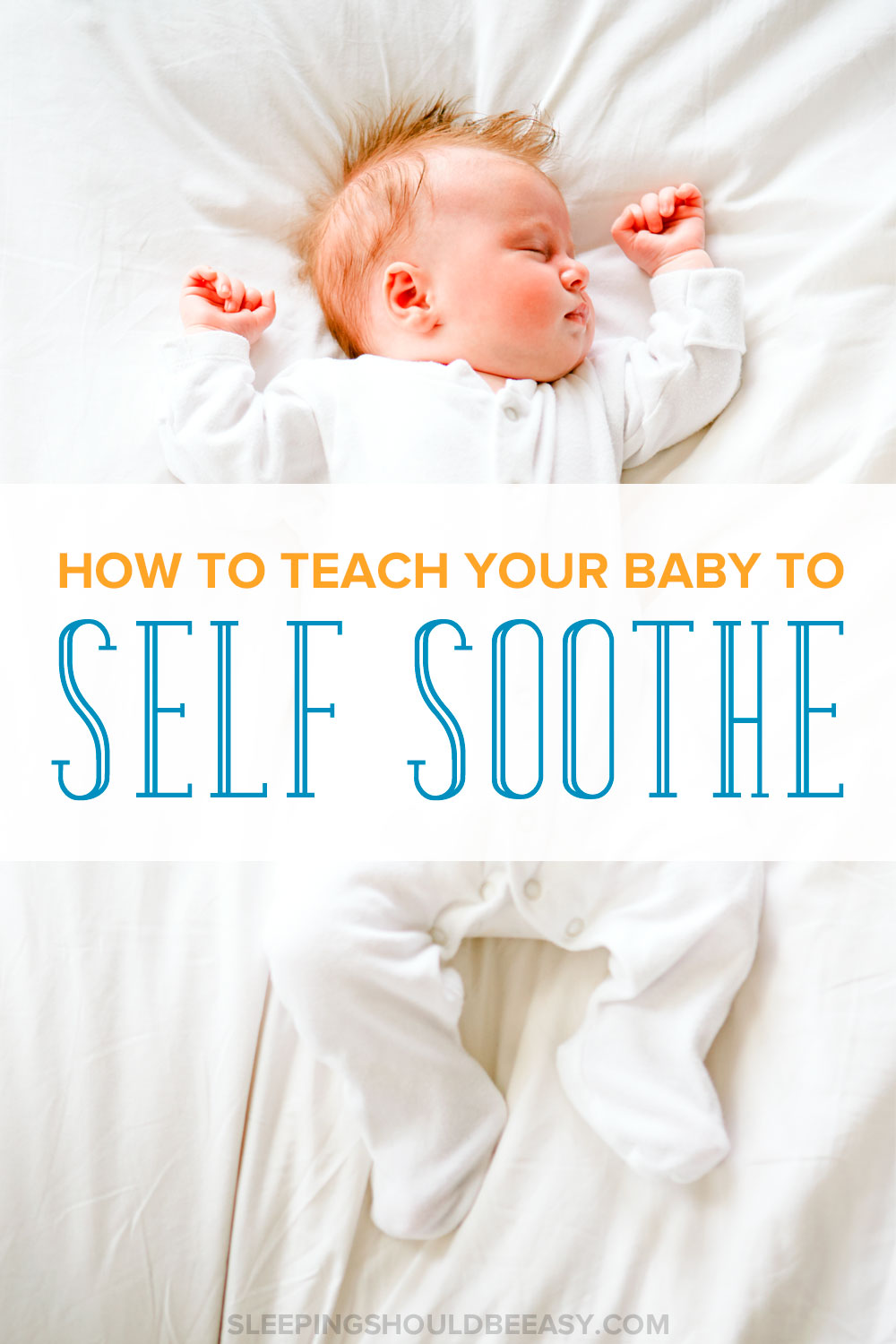 What do you do when your baby doesn't fall asleep on his own? Learn how to start teaching your baby to self soothe to sleep and for naps without crying.