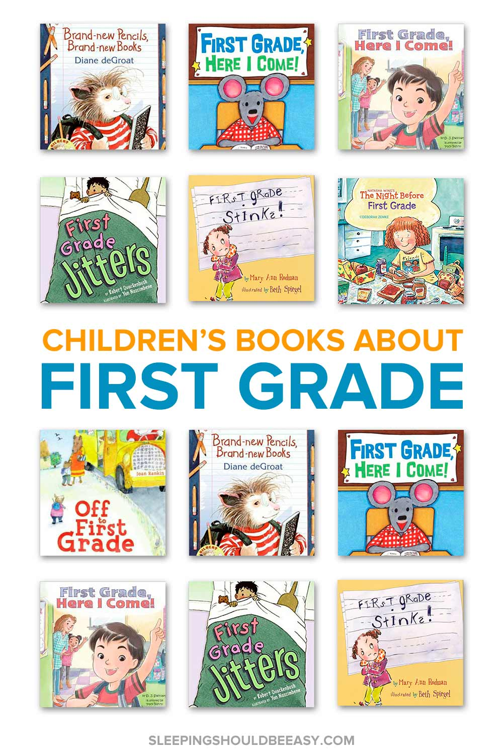 A collection of children's books about first grade