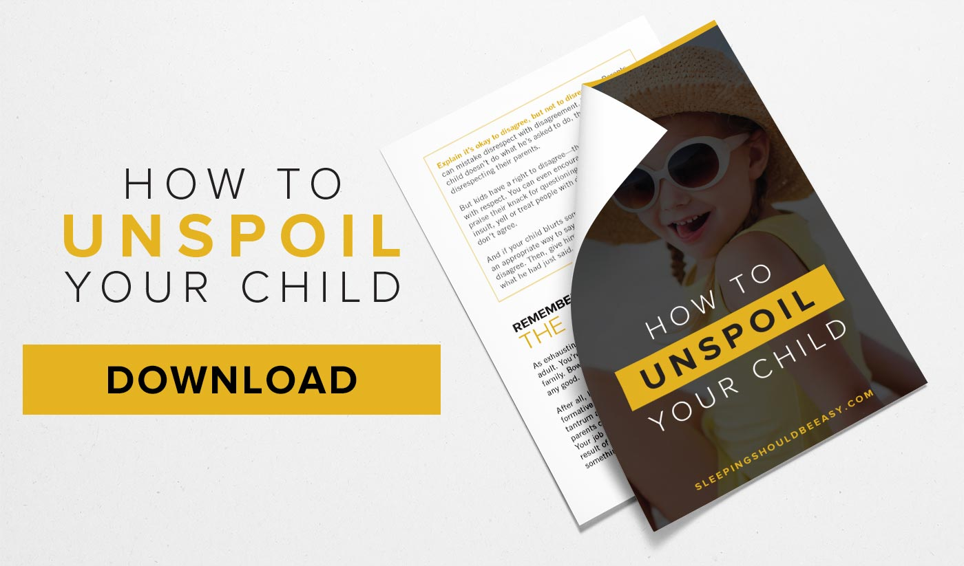 Free PDF on how to unspoil your child
