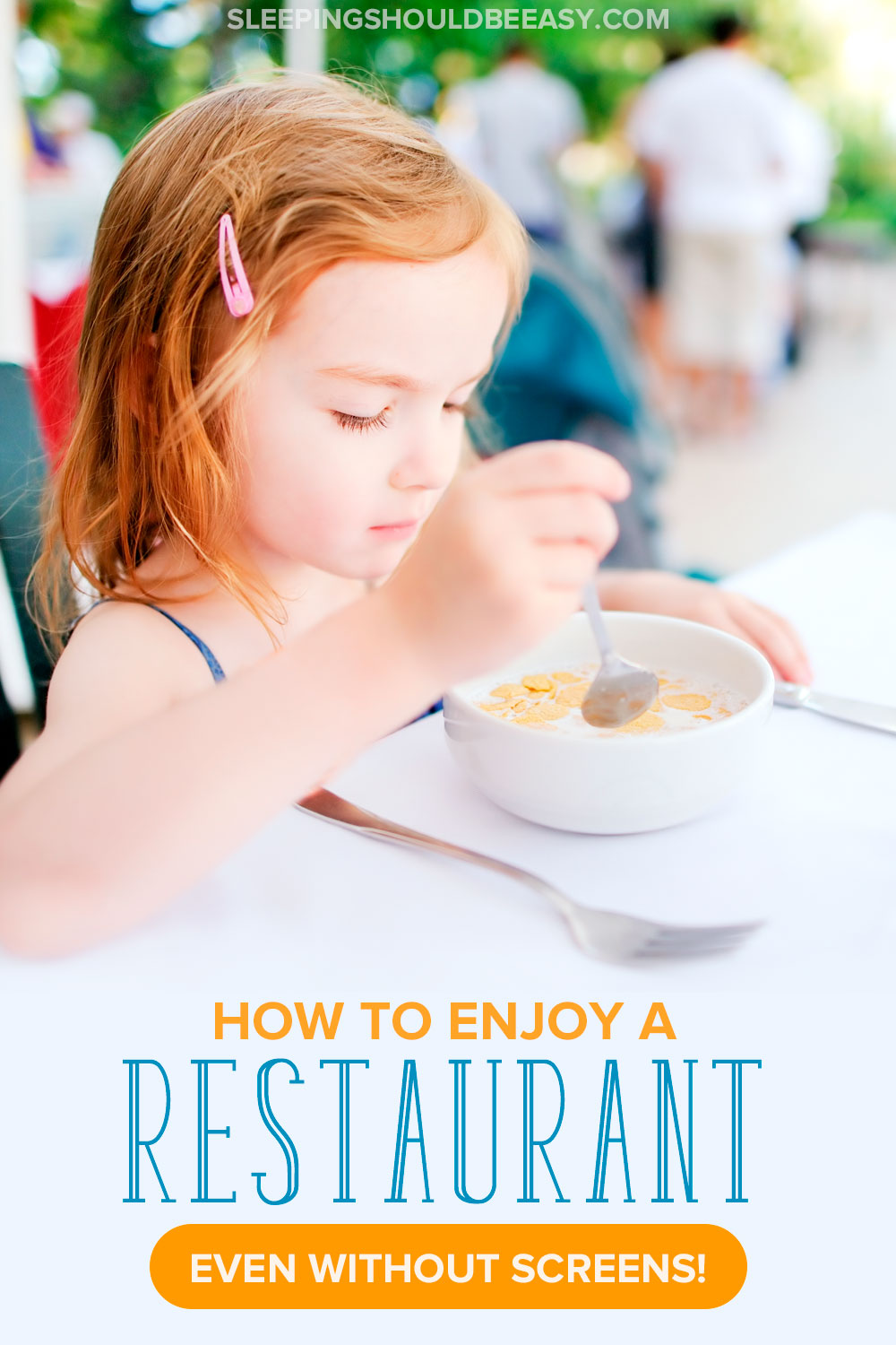 Eating at a restaurant is supposed to be a treat, but you come home more stressed. Learn ways to enjoy a restaurant meal with kids, even without screens, snacks or distractions.