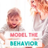 Model the Behavior You Want to See