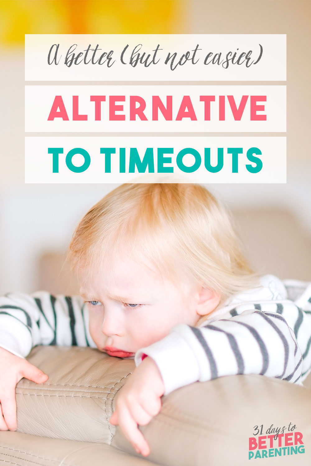 Looking for alternatives to timeout? Putting your child in time out isn't effective and misses out on key learning moments. Try this alternative instead.
