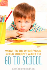 What do you do when your child doesn't want to go to school anymore? The first few days were rough, and they don't seem to be getting any better. Learn how to deal with your child's anxiety about school.