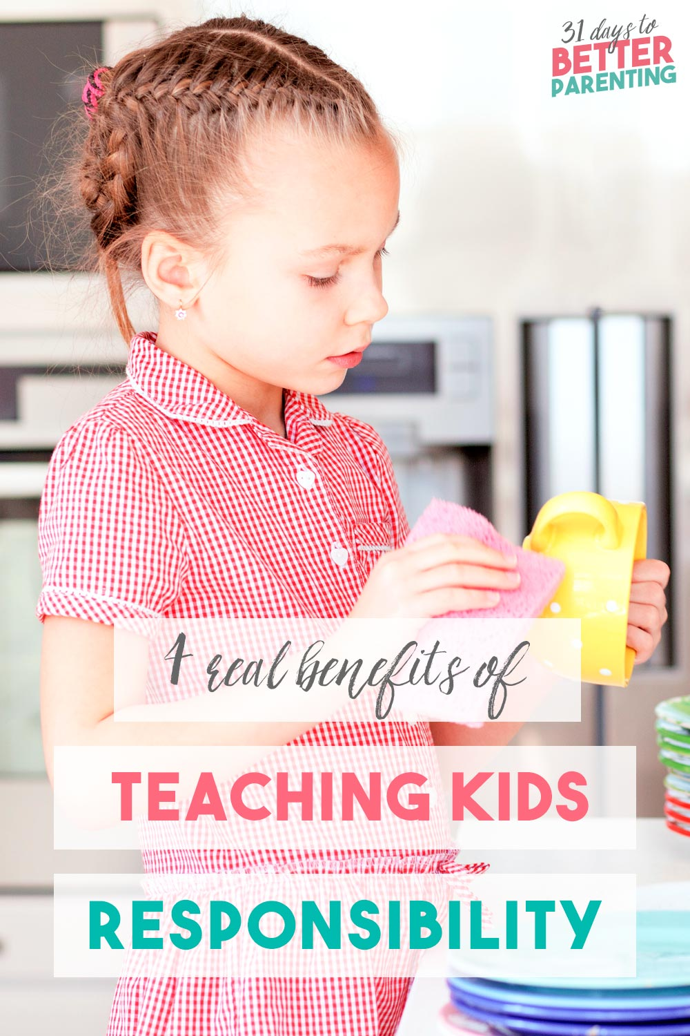 Teaching kids responsibility around the house and at school is an important task. Read 4 real benefits they get (plus parenting tips to put into action).