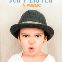 What to Do when Your Kids Don't Listen to You in Public
