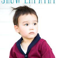 Little boy sitting: parent needs to show empathy