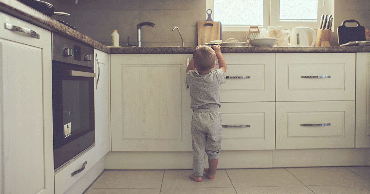 Boy in the kitchen