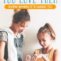 Mom and daughter in the kitchen: tell your kids you love them