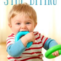 How to stop children biting