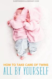 Common advice for twin moms is to get help, but what do you do when you don't have family and friends nearby? Here's how to take care of twins alone.