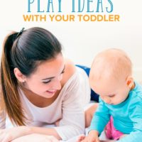 Play Ideas for Toddlers for the After Work Hours