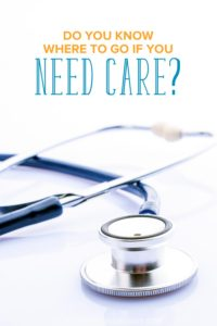 Do you know where to go and what to do if you feel sick? You may not be aware of other care options besides the emergency room. Learn about them here.