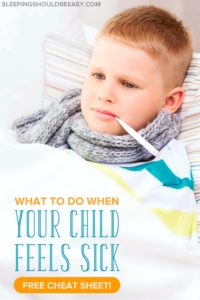 Need a quick cheat sheet of what to do when the kids get sick? Make caring for a sick child much easier with a list of things you can do to help.