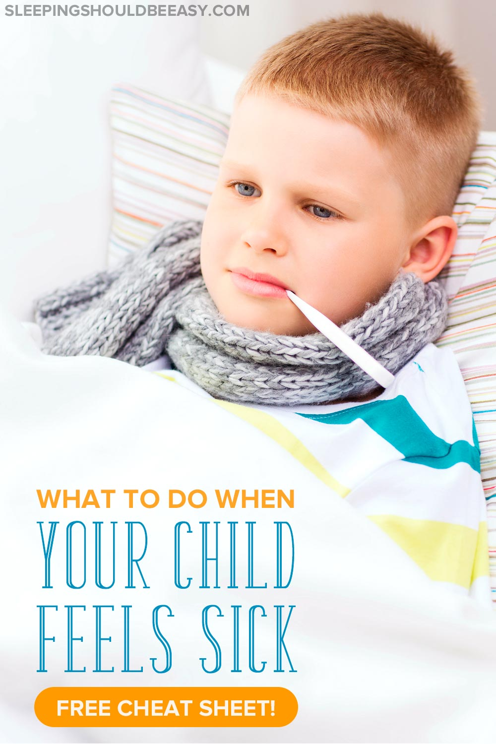 Need a quick cheat sheet of what to do when the kids get sick? Here's a cheat sheet on caring for a sick child with a list of things you can do to help.