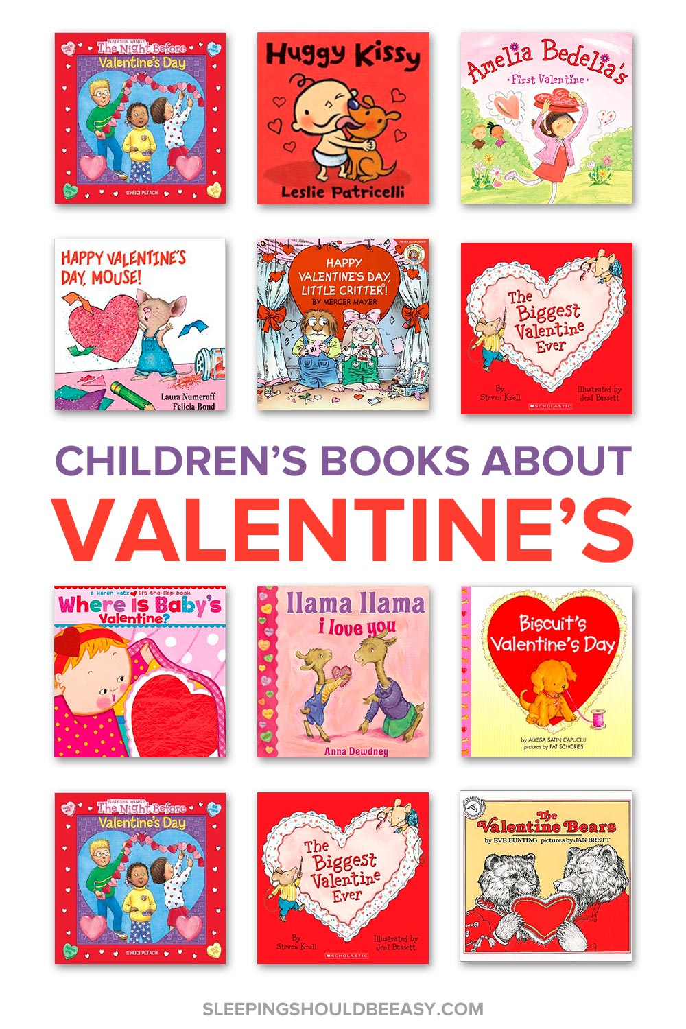 A comprehensive collection of children's books about Valentine's Day, including favorite characters! Perfect to read with your kids for the holiday.