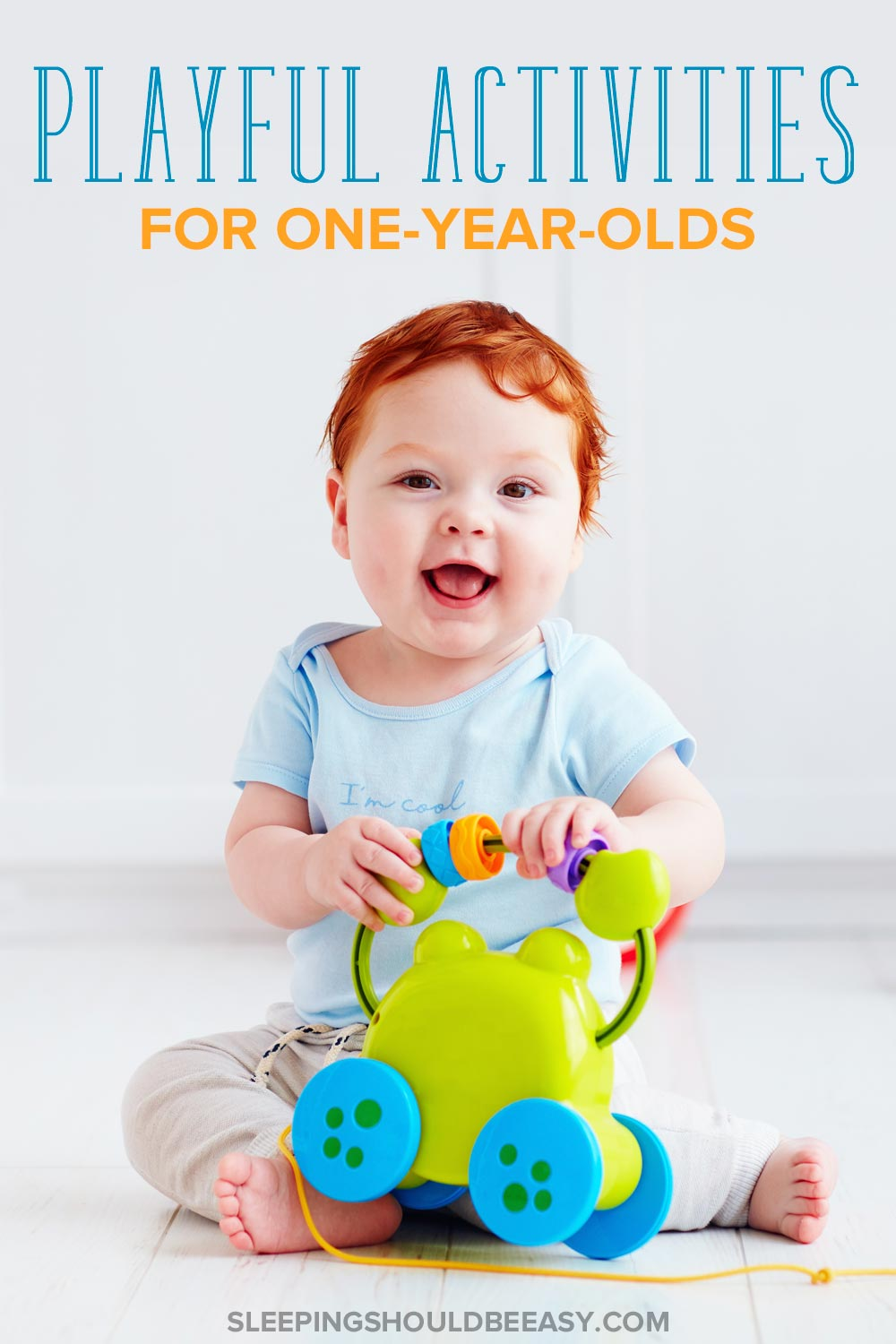 Toddler boy playing: playful activities for 1 year olds