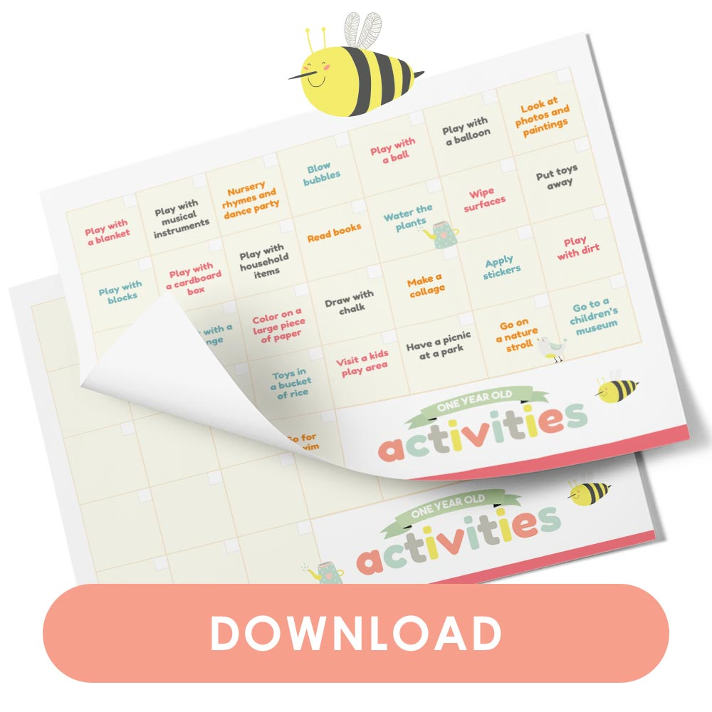Calendar of activities to do with a one-year-old